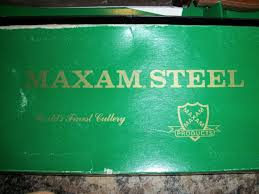 vintage maxam steel knife set nib 9 u2033 french chef 8 u2033 ham and bread
