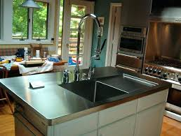 stainless steel countertop with built in sink stainless steel countertops bis eg