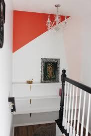 color block wall and custom shelves hooray for diy goldalamode
