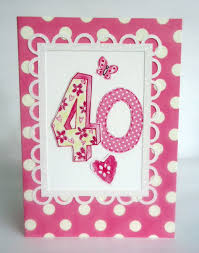 dotty 40th birthday card karenza paperie