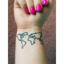 World Map Tattoo World Map Wrist Tattoo Photos Pictures And Sketches Tattoo