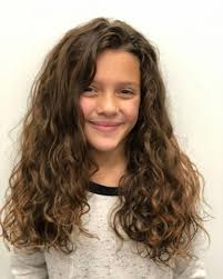 layered haircut for tween girl low maintenance hairstyles for girls with curly hair