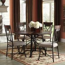 Ashley Furniture Kitchen Table Sets by Leahlyn 5 Piece Cherry Finish Round Dining Table Set By Signature
