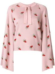 strawberry sweater 538 vivetta strawberry print neck tie sweater buy fast
