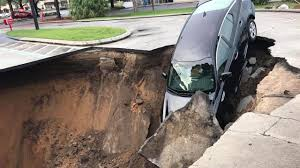 Florida Sinkhole Map by Sinkhole Nearly Swallows Car In Florida The Weather Channel
