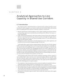 chapter 3 analytical approaches to line capacity in shared use