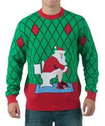 ugly toilet santa christmas sweater