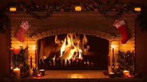 amazing ideas christmas fireplace screen virtual yule log with
