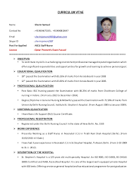 Sample Form Of Resume by Curriculum Vitae Sherin