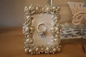 eclectic crystal ring holder images Diy picture frame wedding ring holder jpg