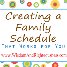 creating a family schedule that works for you day 1 u2013 developing
