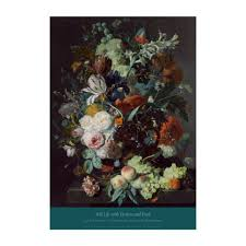 flowers and fruit jan huysum still with flowers and fruit poster