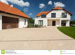 modern house and outbuilding with garage stock image image 43242753