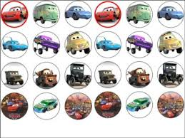 cars cake toppers 24 x cars rice wafer paper cake top toppers new