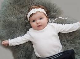 baby christening headband white flower headband baptism