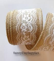 wide lace ribbon jute and lace ribbon jute burlap and white lace ribbon