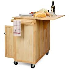 kitchen ideas of white portable kitchen island with unfinished