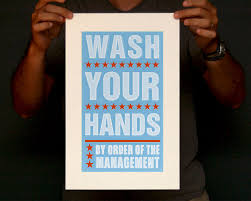 bathroom art kids wall decor wash your hands by order of