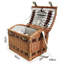 picnic basket set for 4 4 person picnic basket set w cheese board blanket temple webster