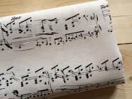 linen writing paper linen fabric sheet music musical notes white black 100 linen 11 09