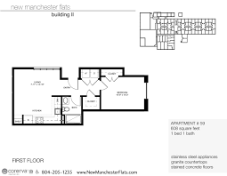 V A Floor Plan by One Bedroom Apartments In Richmond Va Manchester District