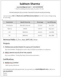 Example Of One Page Resume by How To Write Effective One Page Resume