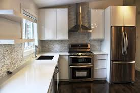 White Kitchen Cabinets Photos The Stylish High Gloss White Kitchen Cabinets