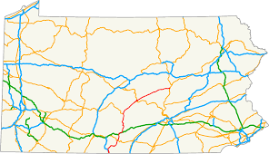Pennsylvania Map by U S Route 522 In Pennsylvania Wikipedia