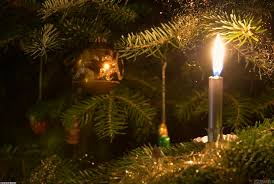 Lighted Christmas Trees Lighted Candle In Christmas Tree Wallpaper 19709 Open Walls