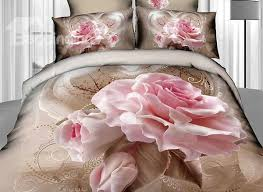 Roses Duvet Cover Mythical Creatures And Tree Print 4 Piece Christmas Gift Duvet
