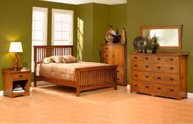 Bedroom Furniture With Hidden Compartments San Juan Mission Style Solid Oak Mission Bedroom Set Amish