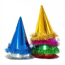 party hats 6 foil fringed party hats candle cake party shop