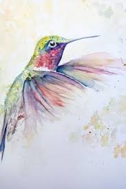 splatter art two little hummingbirds one sittin u0027 on a branch