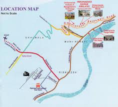 Himilayas Map Omkarananda Ashram Himalayas
