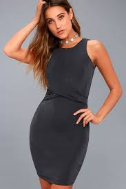 grey bodycon dress chic charcoal grey dress bodycon dress sleeveless dress