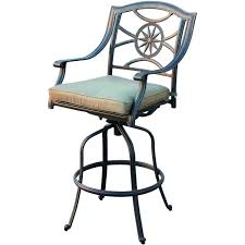 Bar Stools Clearance Exterior Sling Outdoor Swivel Bar Stool With Cast Iron Frame As