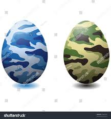 camouflage easter eggs camouflage eggsvector stock vector 75647449