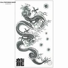 wholesale long chinese dragon temporary tattoo body art flash