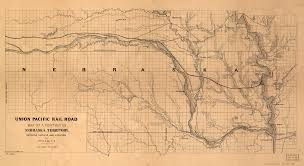 Illinois Railroad Map by This Is An 1865 Union Pacific Railroad Map Of Nebraska Territory
