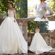 Chapel Train Wedding Dresses Millanova Ball Gown Wedding Dresses Long Sleeves 2016 Off Shoulder
