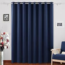 Blackout Navy Curtains Deconovo Blackout Curtains Thermal Insulated Wide Width Curtains