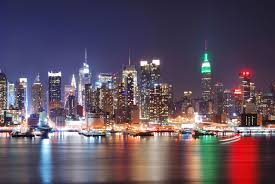 manhattan skyline new york city with manhattan skyline at night 69474607