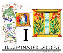 illuminated manuscript letters i printable alphabet letter