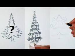 how i draw a christmas tree 10 different styles youtube