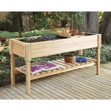 Garden Bench With Planters Raised Garden Planter Table Home Outdoor Decoration
