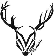 tribal deer head tattoo sample photos pictures and sketches