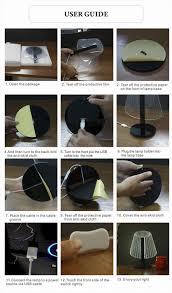 diy usb design innovative eye protection acrylic 3d dimmable led