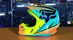 fox motocross helmets fox racing 2016 v4 race motorcycle helmet review youtube