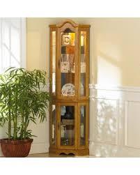 lighted curio cabinet oak deal alert southern enterprises dahley golden oak lighted corner