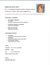 brilliant decoration easy resume examples unbelievable simple of